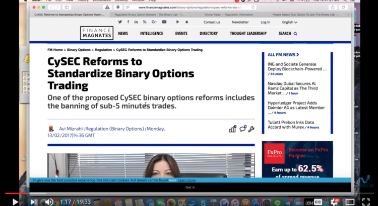 cysec reforms binary options trading