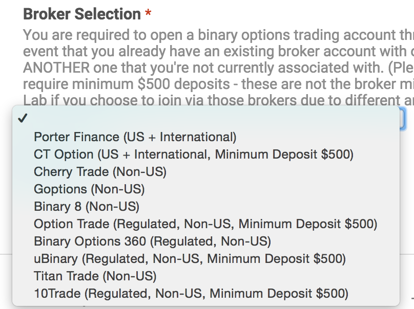 Binary options brokers located in the usa