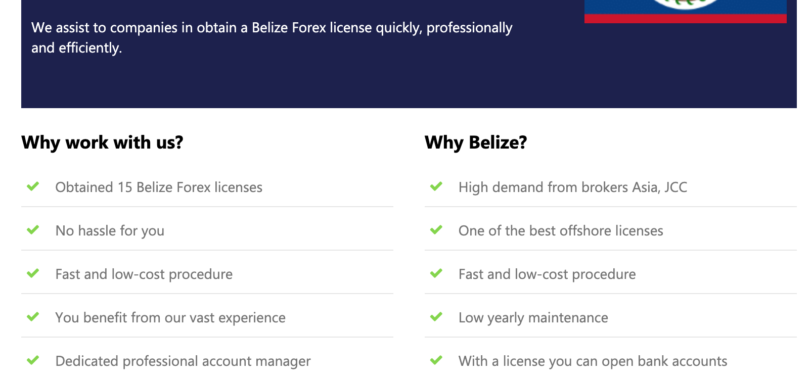 Belize binary options license